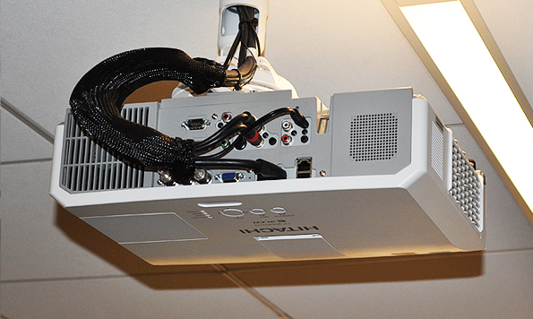 Ceiling Mounted Hitachi Projector - Monolith Systems
