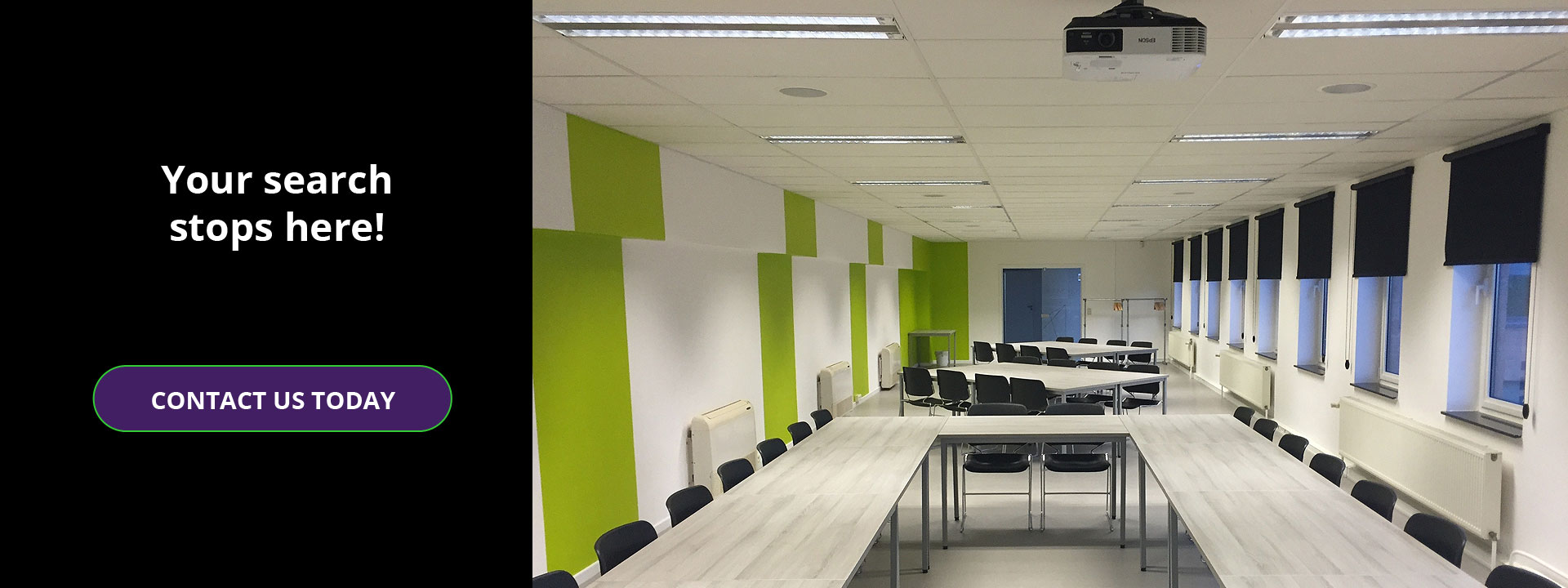 Large corporate conference room