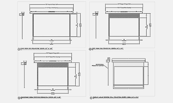 CAD drawing of the AV project